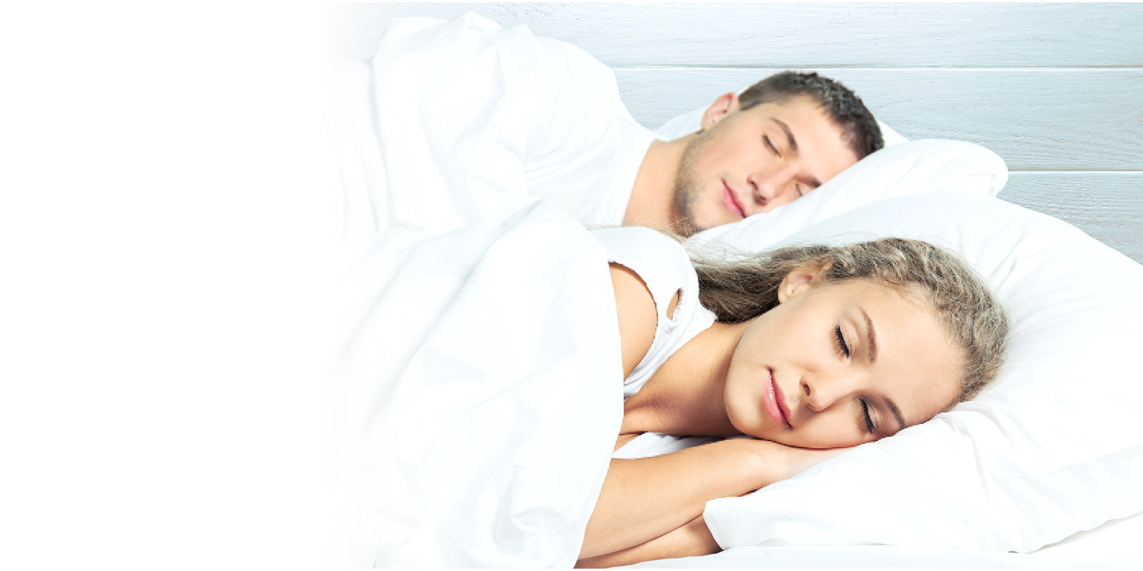 Young couple sleeping peacefully